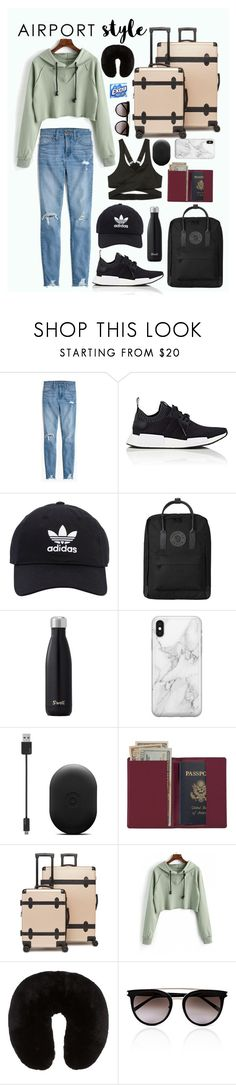 """airport STYLE"" by topicbaby on Polyvore featuring Madewell, adidas, adidas Originals, Fjällräven, Recover, Royce Leather, CalPak, Marc Jacobs and Calvin Klein"