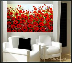Original Oil   gallery canvas abstract  Landscape Modern by artmod, $225.00
