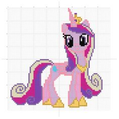 See journal for terms of use. This uber pretty Celestia art is by ~Blaze33193 Go give it some favlove. This is made up of a whopping 9881 stitches. Try using one strand of metallic thread in with a...