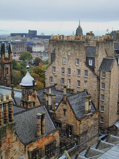 Rooftop View from Camera Obscura, Edinburgh, Scotland