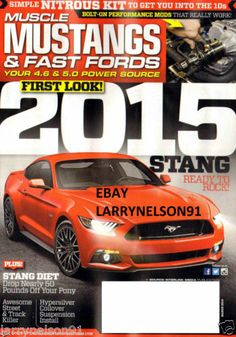 MUSCLE MUSTANGS & FAST FORDS MAGAZINE MARCH 2014 SIMPLE NITROUS KIT MODS 2015 SS