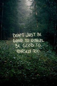 Be good, all around.