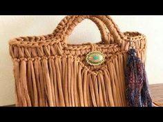 Örgü Çanta Yapımı Hasır Örgü - YouTube