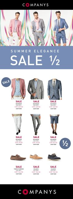 ½ SALE – Summer Elegance – SALE – ½   https://www.companys.ch/Newsletter/12.06.13_COM_M/newsletter.html
