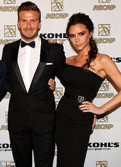 Victoria Beckham attending the Latin Music Awards VIP reception with husband David