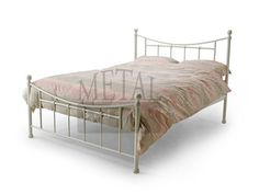 Huge choice of metal beds in different colours like black, silver & white and in modern designs with next day delivery available at Beds Direct UK. 4ft Beds, Metal Beds, White Bedding, Home Bedroom, Bedrooms, Soft Furnishings, Bed Frame, Mattress, Bristol