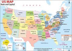 united states capitals list US Map with Capitals, 50 States and Capitals, US State Capitals List States And Capitals, United States Map, U.s. States, States America, Iowa, Rhode Island, Idaho, Wyoming, Montana