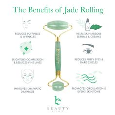 Jade Roller for Face - Face & Neck Massager for Skin Care, Facial Roller to Press Serums, Cream and Oil Into Skin, Lymphatic Drainage Massager Skin Care Tool, Eye Massager and Neck Roller Pack) Skin Care Routine Steps, Skin Routine, Hair Care Routine, Skincare Routine, Beauty Routines, Face Skin Care, Diy Skin Care, Face Face, Beauty Care