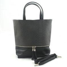 efb658fb630 Momo 08 Grijs | Damestassen | Serlinsupershopper.nl Een chique trendy tas  met aan de