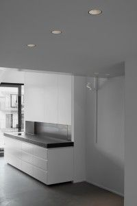Lighting by Kreon - Aplis (ceiling, recessed) & Erubo on track (wall)