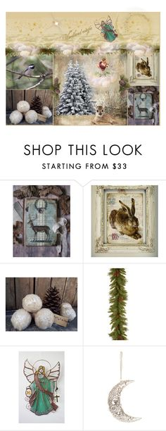 """Woodland magic"" by bethstylebook ❤ liked on Polyvore featuring beauty, National Tree Company and Cody Foster & Co."