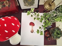 thestitchtower:: Good morning! I received this beautiful illustration yesterday morning from the lovely and extremely talented @annaterreros thank you kind lady I absolutely adore it!!  You can never have too many mushrooms!  #flyagaric #amanitamuscaria #toadstool #mushroom #fae #faeire #fairy #elf #elven #country #countrylife #forest #cute #homedecor #decor #pillow #nature #art #fibreart #crochet #crochetersofinstagram #amigurumi #crafter #illustration #illustrator #artistsofinstagram #etsy…