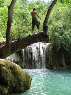 Kouang Si Waterfall, Luang Prabang, Laos