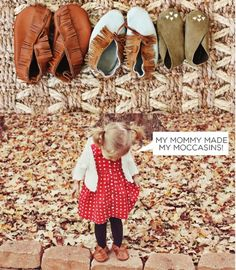 DIY Moccasins for Children - Top 28 Most Adorable DIY Baby Projects Of All Time