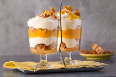 Mango-Tiramisu mit Cantuccini