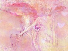 Angel Art Photography Dreamy Angel Art Pink Angel by KathyFornal, $18.00