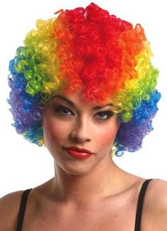 Clown Afro Wig (rainbow) Economy Adult Halloween Costume Accessory  http://www.amazon.com/gp/product/B002XAPJR4/ref=as_li_ss_tl?ie=UTF8=1789=390957=B002XAPJR4=as2=w2weblinkdir-20