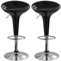 AmeriHome BS103BLKSET Adjustable Height Bar Stool, Set of 2 by AmeriHome. $108.78. 330-pound weight capacity each. Maximum seat back height of 33-inch. Includes 2 black adjustable height bar stools. Adjustable seat height from 20 to 30-inch. 14.75-inch ABS plastic 360-degree swivel seat. Add a bit of whimsy to your kitchen, bar, game room, basement, or shop with the AmeriHome Bar Stool Set in glossy black. A sleek and fun silhouette with a polished mirror-like chrome base ...