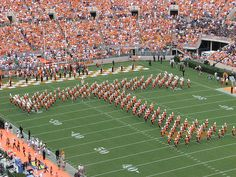 The Pride of the Southland Marching Band performs. University of Tennessee