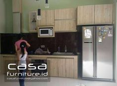 "341 Suka, 9 Komentar - KITCHEN SET,LEMARI MINIMALIS (@casafurniture.id) di Instagram: ""Kitchen set project @nusaloka Bsd  #kitchen #kitchenset #furniture #bsd #tangerang…"" Bogor, Jakarta, Kitchen Sets, Custom Furniture, Mini, Kitchen Cabinets, Instagram, Interior, Design"