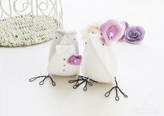 Casamento feito à mão: Topo de bolo {passarinhos de tecido}
