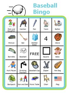 Baseball season often means lots of time in the stands for siblings. Personalize this bingo board for your child or your baseball field. Try it with a kid-sized clipboard from The Trip Clip! Baseball Activities, Baseball Crafts, Wsu Basketball, Basketball Shorts Girls, Basketball Scoreboard, Printable Activities For Kids, Free Printables, Reading Bingo, Guided Reading