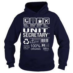 Awesome Tee For Unit Secretary T-Shirts, Hoodies. CHECK PRICE ==► https://www.sunfrog.com/LifeStyle/Awesome-Tee-For-Unit-Secretary-Navy-Blue-Hoodie.html?id=41382