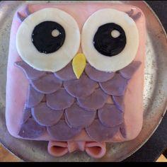 Owl cake fondant