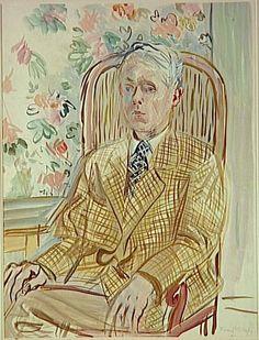 """Raoul Dufy  - Self-Portrait, c. 1935, Musee d""""Art Moderne de la ville de Paris."""