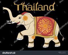 Thailand Elephant art drawing Thai Elephant, Elephant Art, Thailand Elephants, Elephant Illustration, Thailand Photos, Thai Art, Art Drawings, Arts And Crafts, Invitations
