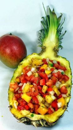 Pineapple Mango Pico de Gallo Salsa  ~Frisky   http://erecipecards.blogspot.com/2014/04/pineapple-mango-pico-de-gallo-salsa-52.html