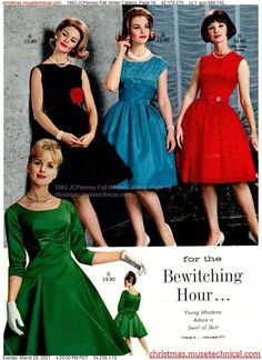1960s Fashion, Vintage Fashion, Christmas Catalogs, Vintage Style Dresses, Fall Winter, Formal Dresses, Holiday, Skirts, Clothes