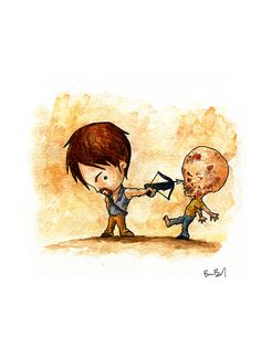 Daryl - Walking Dead  Check out the rest of Ben Byrd's stuff! It is adorably awesome!
