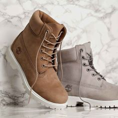 Meet the Footasylum Exclusive Womens Timberland 6 Inch Premium Boot in Bone & Light Grey! Available now online & in store. Ladies over the knee boots women Timberland Outfits, Timberland Stiefel Outfit, Timberland Boots Women, Timberland 6 Inch, Heeled Boots, Shoe Boots, Shoes Heels, Ankle Boots, Cute Shoes