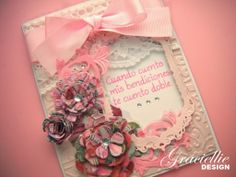 Graciellie Design - Window card, sketch challenge, ODBD, Spellbinders, ribbon and lace.