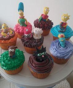 Cupcakes simpson Cupcakes, Desserts, Food, Food Cakes, Tailgate Desserts, Cupcake Cakes, Deserts, Essen, Postres