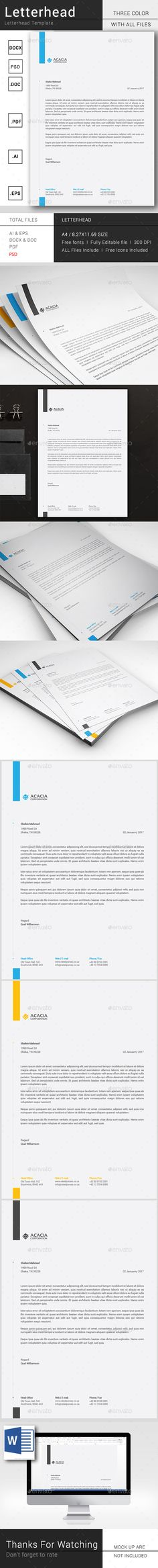 MS Word Letterhead Template Letterhead template, Stationery - free word letterhead template