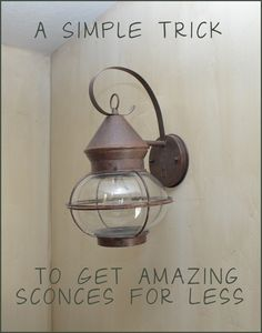 Funny! This is the exact light fixture we put in our bathroom 15 years ago! It's meant to be outdoor lighting. lol.