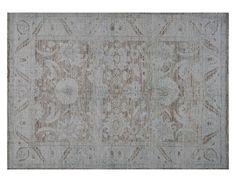 """#16138 Origin:Afghanistan Design:Persian Mahal Design Size:5' 7"""" x 7' 9"""" Sqft:42.81′ Color:Brown"""