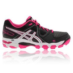 newest collection 9c9a7 caa13 Asics Gel-Negroheath 5 Mujer Hockey Zapatillas Negro Rosa YIfir 1