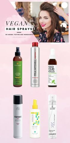 List of the best cruelty-free and vegan hairsprays! Absolutely no animal testing or ingredients used in these vegan hairsprays.