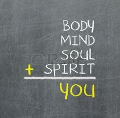 Tú, cuerpo, mente, alma, espíritu - un mapa mental simple para el crecimiento personal. Foto de archivo - 16718900