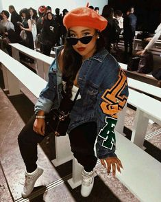 Love this outfit Black Girl Fashion, Look Fashion, 90s Fashion, Fashion Outfits, Womens Fashion, Fashion Trends, Urban Fashion Women, Vogue Fashion, Dope Outfits