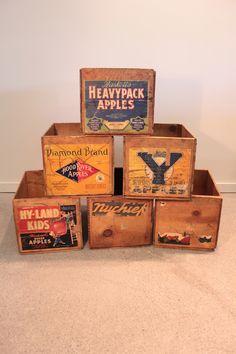 Vintage Okanagan Fruit Boxes