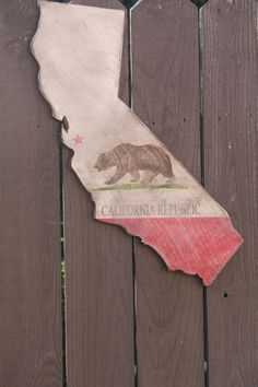 State of California Flag Rustic/Stressed by CaliforniaRustic California Flag, California Living, Dear Santa, Retail Therapy, State Art, Nifty, Wood Projects, Dorm, Diy Ideas