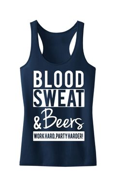 BLOOD SWEAT & BEERS Tank Top, Running, Workout Clothing, Workout Tanks, Gym Tank, Motivational Workout, Crossfit, Workout Shirt, Fitness