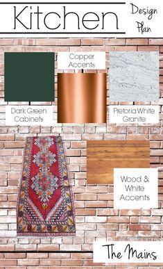 The Kitchen Design Plan Basics Green Cabinets, Wood Cabinets, Beautiful Kitchen Designs, Beautiful Kitchens, New Oven, White Granite, Kitchen Interior, Design Kitchen, Kitchen Ideas