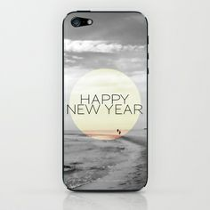 """HAPPY NEW YEAR iPhone & iPod Skin by Pia Schneider [atelier COLOUR-VISION] - $15.00. iPhone & iPod Skin. Photography: Sylt, Northsea, Germany, from 2007. Title: """"In der Ferne"""" / """"In the distance""""  New Design/Typo: Happy New Year. #photography #piaschneider #ateliercolourvision #happynewyear #blackandwhite #typography #beach #sky #ocean #sea #northsea #sylt #germany #europe #skin #samsung #samsunggalaxy #iphone #iphoneskin #ipod #ipad #ipadskin #ipodskin #laptop #laptopskin #application…"""