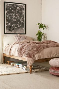 bohemian platform bed | magical thinking, platform beds and rustic bed