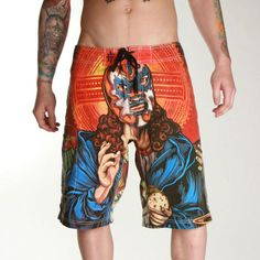 When summer pool parties and surf sessions are almost religious - THE LAST FIESTA BOARDSHORTS Summer Pool Party, Pool Parties, Pool Wedding, Last Supper, Going On Holiday, Skull Design, Iron Fist, Tight Leggings, Tie Dye Skirt